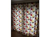 Gorgeous Clarke and Clarke fabric curtains - would fit double French doors