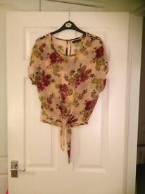 Atmosphere floral chiffon top size 10.