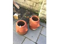 Reclaimed Victorian chimney cornicing and chimney pots