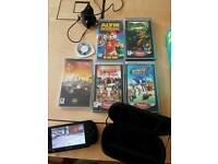Black psp with games