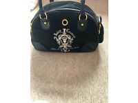 Juicy couture pet carrier hand bag