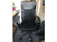 Black desk office chair