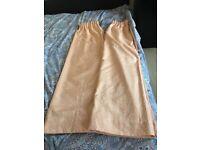 curtain peach colour