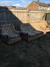Free two armchairs and three seats sofa