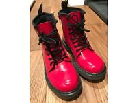 Dr martens red patent boots uk 1