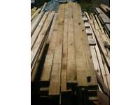 Short tanalized treated timber battens