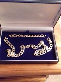 9ct gold solid curb link chain