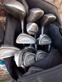 Various wilson and hippp golf clubs