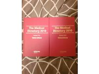 The Medical Directory 2010 - Volume 1 & 2 - 165th Edition - AMAZING CONDITION