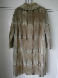 ladie's musquash fur coat