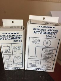 janome Overlock Machine Attachments Set A and B