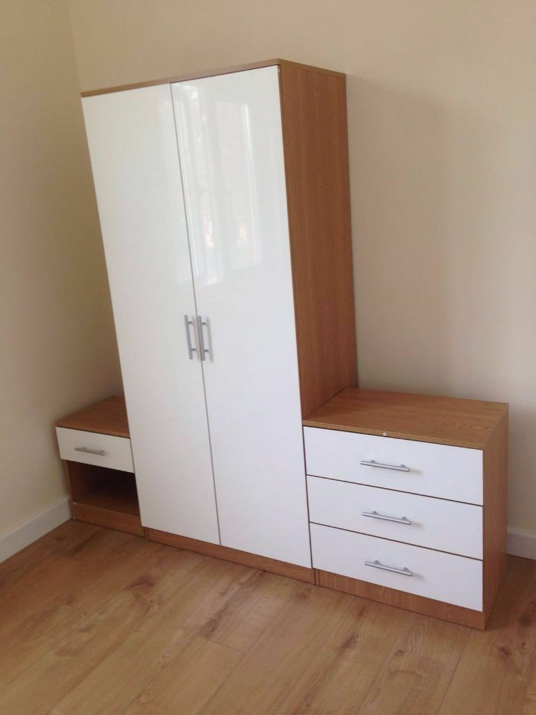 High Gloss Set with 2 Door wardrob, chest of drawer bedside Brand Newin Turnpike Lane, LondonGumtree - CALL US ON 07459394421 CALL US ON 07459394421 EXPRESS SAME/NEXT DAY DELIVERY ~VIEW BEFORE YOU PURCHASE AT OUR STORE~ Please click ..See all ads.. at the top for our other range of products Brand new in original packaging, flatpacked THE SET INCLUDES...