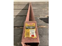 Metpost steel support for fence post