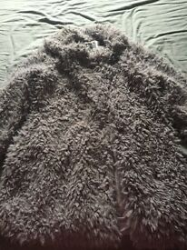Women's lilac size 12 fur coat