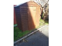 5x3 wooden apex shed with floor