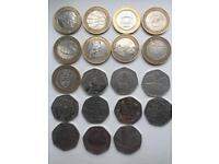 Coins £2 & 50p sale,swap,offers
