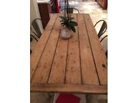 Country style dining table