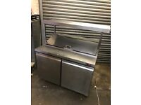 Pizza topping fridges with top shelves, commercial