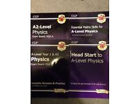 Set of A level physics revision guides-New for 2015 curriculum
