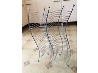 DOUBLE CD STORAGE RACK - CHROME