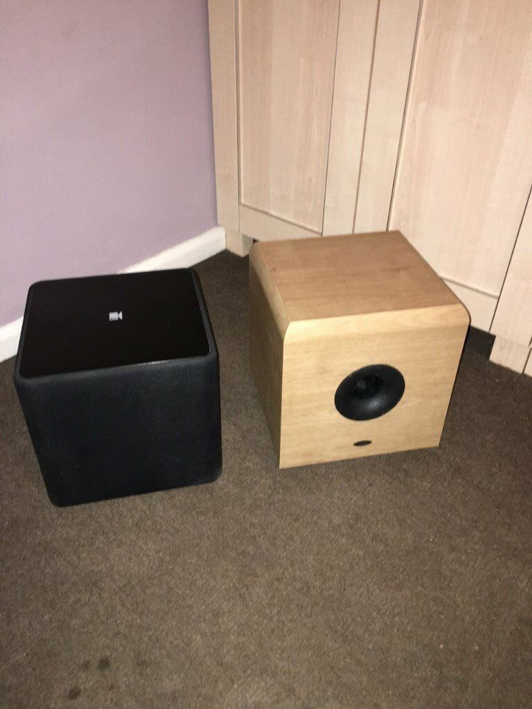 kef kube 1. kef kube 1 and eltax subwoofer - parts or repair only e