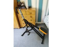 Total Crunch Fitness machine, folding - v.good condition with manual