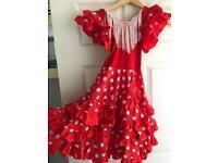 Girls flamenco dress age 3/4