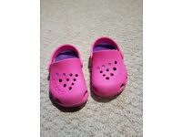 Girls crocs size 7 infant