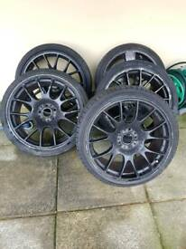Bbs ch 19s 5x112 damaged only 3 useable but 4th is available