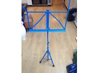 Music Stand - adjustable height in Blue