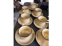 Denby coffee cups & saucers vintage £30