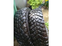Two 4 x 4 tyres