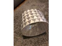 Grey white geometric lampshade