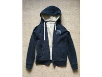 Jack Wills Sherpa zip hoodie -size 6, would fit an 8 - like brand new!