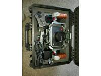 """Black Magic cinema camera 4K boxed with extra battery, hard drive, case and 7"""" lilliput monitor"""