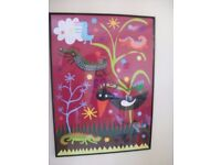 Large, framed IKEA picture * Fantasy Animals