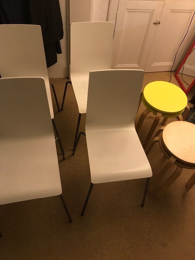 Chairs (4 £ each) and stools (2 £ each)