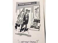 Rod Macleod Celtic related cartoons from 1976-1982
