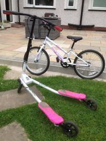 Girls bike &scooter for sale