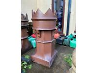 Small crown top brown chimney pot.