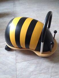 Wheelybug sit on toy