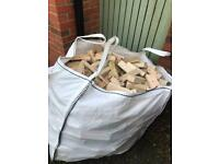 Firewood Ton bag timber FREE DELIVERY TO BANGOR BELFAST AREA logs fuel fire wood stove sticks