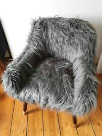 Funky furry armchair