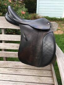 Black English Leather saddle 16.5 inch
