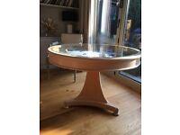 Unique Sean Feeney Circular Display Table in Satin Wood