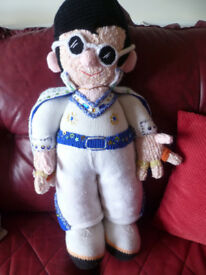 stunning elvis knitted doll must be seen