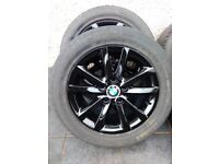 Genuine Bmw 16inch alloys alloy wheels and tyres