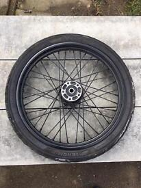 """Harley Davidson 21"""" front wheel with tire"""