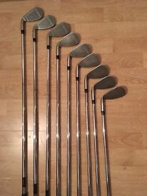Taylor made Supersteel irons, full set, 3iron- sand wedge, great condition
