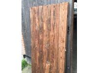WOODEN 6FT X 3FT FRAMED CLOSEBOARD GARDEN GATE